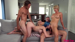 Family Swap XXX - Kit Mercer & Jewelz Blu - Daddy Give Gold Stars