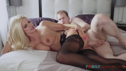 Family Hooukps - Big Tit Blonde MILF Brittany Andrews Gets Railed By Her Stepson During The Pandemic